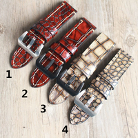 MERJUST 20mm 22mm 23mm 24mm Crocodile pattern Genuine Leather Watchband Wristband For PAM Panerai Big Pilot Watch Strap
