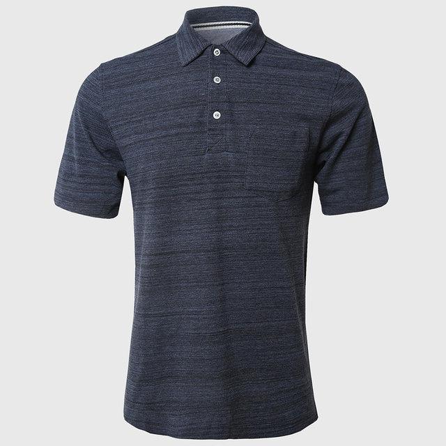 Men classic polo camisas hombre camisa de polo sólido algodón tejido transpirable casual stun tapeta de tres botones de alta calidad