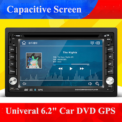 universal 2 Din 6.2 in-dash Car DVD player with GPS BT/USB SD,audio Radio stereo video,rear view camera,car multimedia headunit 2 din new universal car radio double 2 din car dvd player gps navigation in dash car stereo video free gps camera car multimedia