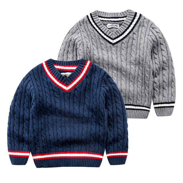 In the spring of 2017 new children V neck sweater warm baby boy college style