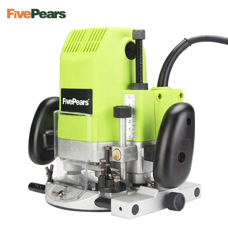 FivePears 6 мм 8 мм 12 мм электрический маршрутизатор Деревообработка триммер маршрутизатор 1850 Вт триммер слот машина подарок 1/2 3/8 1/4 Цанга