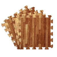 Soft Foam Mats Wood Grain Flooring Tiles PE Foam Puzzle Mats Home Flooring Tile Split Joint