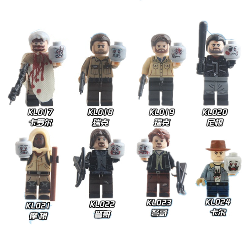Single Sale Building Blocks Figures The Walking Dead Carl Daryl Rick Negan Super Heroes Kids DIY Toys KL9003 suzuki s 32c soprano melodion with case and mouthpiece 32 key melodica professional performance