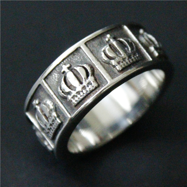 Drop Ship New Band Crown Ring Mens 316L Stainless Steel Polishing Silver Cool Vintage Punk King Of The Crown Ring