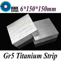 6 150 150mm Titanium Alloy Sheet UNS Gr5 CT4 BT6 TAP6400 Titanium Ti Plate Industry Or
