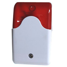 103 Mini Wired Strobe Siren Durable 12V Sound Alarm Strobe Flashing Red Light Sound Siren Home Security Alarm System 115dB