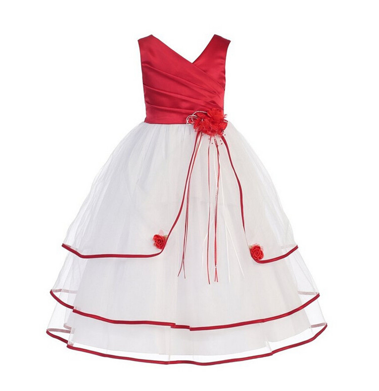 Ball Gown Baby Girl Dress 2017 New Fashion Beautiful Lace Dresses Flower Kids Clothes For 4-10 Years Princess Party Child Dress free shipping new red hot chinese style costume baby kid child girl cheongsam dress qipao ball gown princess girl veil dress