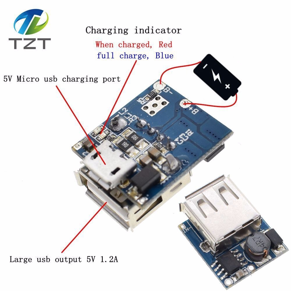 5V Lithium Protection Board Power Boost Module Step Up Battery Charger 18650