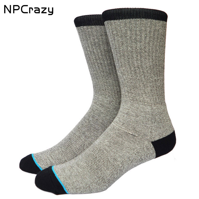 Gray Black Hit Color Basketball Socks Terry Heated Sock Snowboard Outdoor Sport Skiing Socks for Men