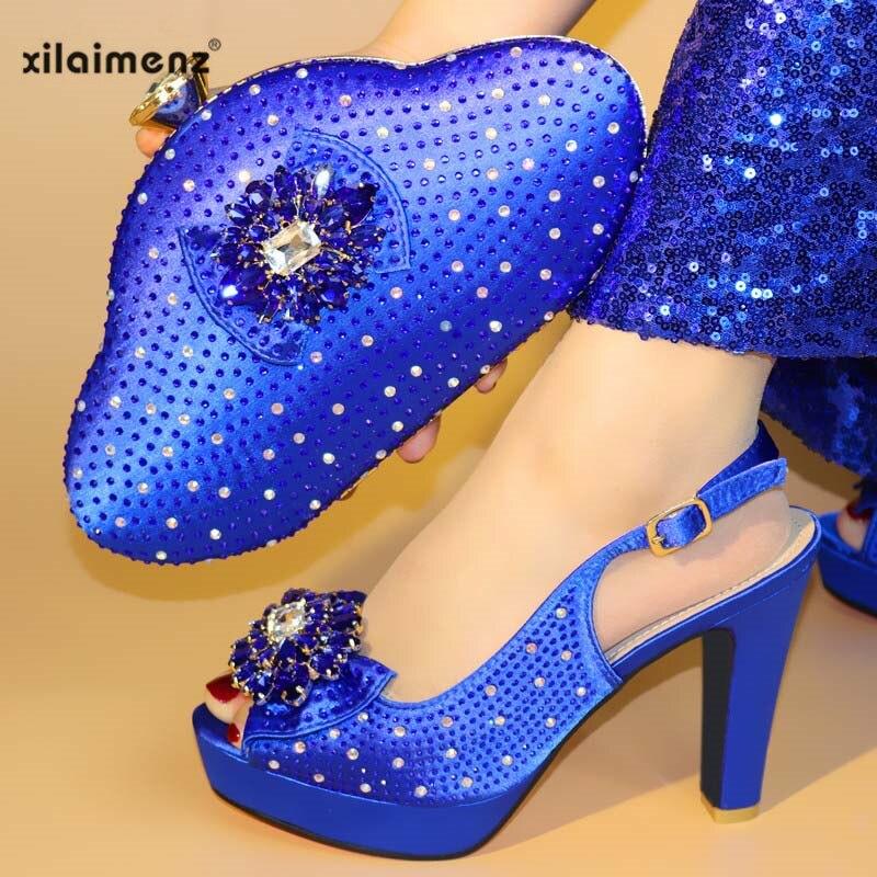 Les royal As La Ensemble Blue Femmes Assorties Pour Nigérian New Sac Talons Et purple Picture Mis Gold Partie En Chaussures Africaine wine Ravqw4x6
