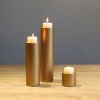 3 sztuk/paczka Złota świeca posiadacze Home Decoration kolumna Świeca Stojak Bar Wesele wystrój świeca bowl
