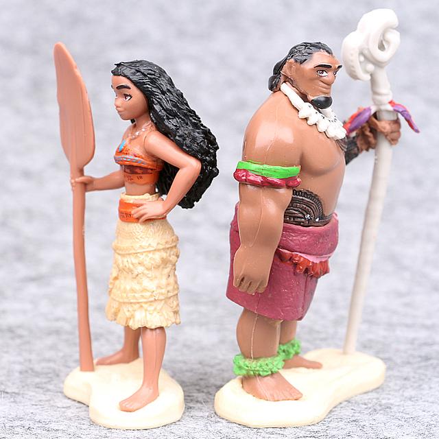 Disney Moana Princess Maui Chief Tui Tala Heihei Tamatoa Action Figure 5pcs/Set 6-10cm
