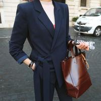 New Arrival Two Piece Set Pants Suits Women Blazer Jacket & Pant Blazers Femme Mujer