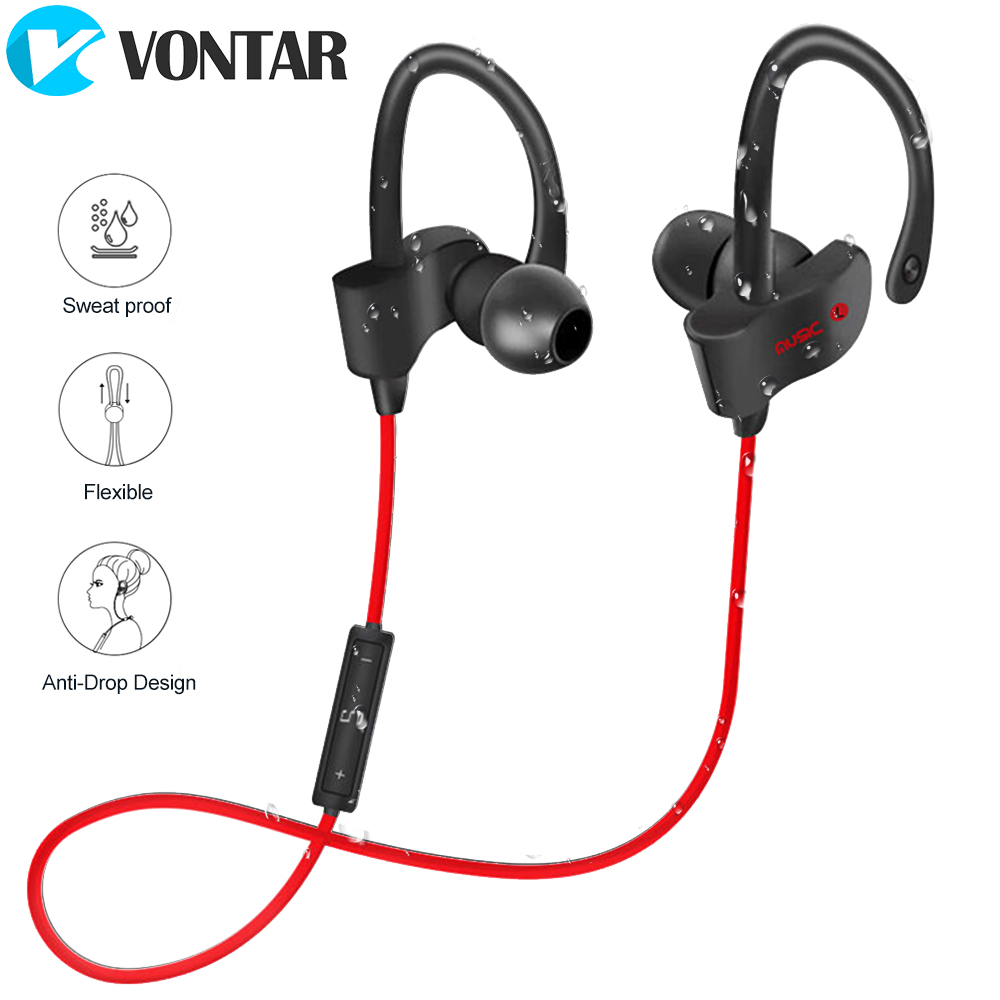 Bluetooth Headphones Wireless Sports Earphones with Mic IPX4 Sweat proof Heavy BassStereo Earbuds for Gym Running drop proof