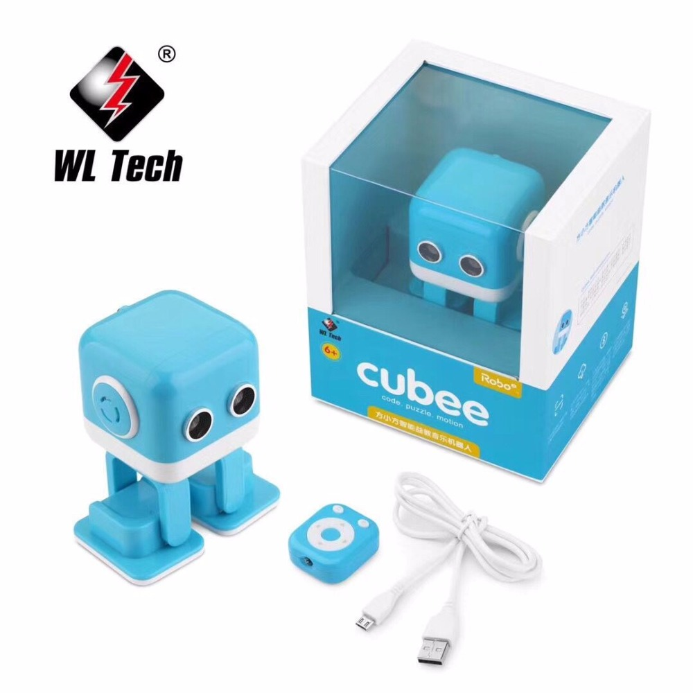 Hot sales WL F9 APP /radio control intelligent smart dancing rc robot Cubee Robot offex home office plinth ottoman latte