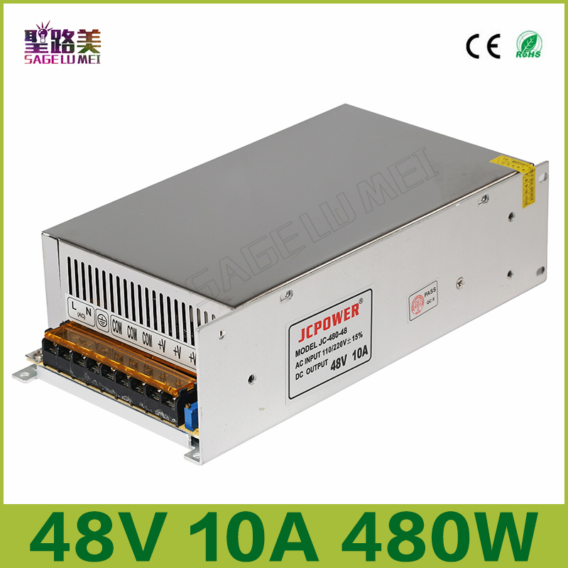 ФОТО 2016 Best price DC48V 10A 480W Universal Regulated Switching Power Supply for CCTV Led Radio LED strip light