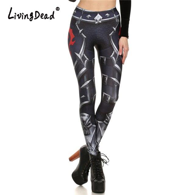 Brand New WOW DE LA HORDA Leggins Polainas de Las Mujeres de Primavera y Verano Impreso Mujer Legging Mujeres Pantalón