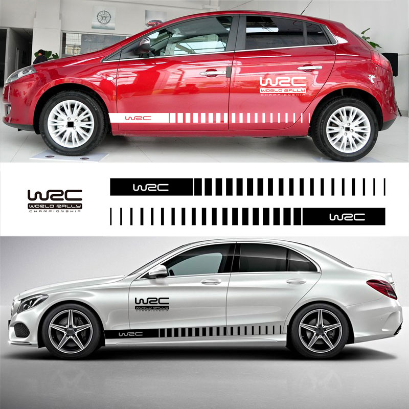 YONGXUN, 3PCS FOR Racing Stripe WRC Skirt Sticker Styling Decor Car Whole Body Graphic Decal Car Styling Accessories DT-O5678 car styling quality vinyl decal sticker cool racing sport stripes car stickers on the whole body car accessories for toyota reiz