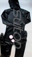 Suitop Мужской полный корпус латексный Облегающий комбинезон из латекса зентай с пенисами презерватив для мужчин (молния сзади) (только открыт
