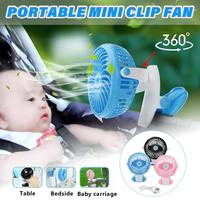 Multifunction Mute Clip Fan Rechargeable for Baby Stroller Fans Portable Air Cooling Desk Table Mini USB Fan for Home Office