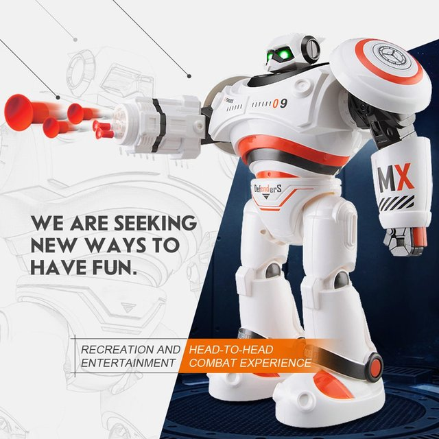 R1 Intelligent RC Robot Programmable Walking Dancing Combat Defenders Armor Battle Robot Remote Control Toys For Child Gifts