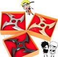 Cosplay Anime Naruto ninja kunai Uchiha Sasuke Rotativo Arma Shuriken Fuhma