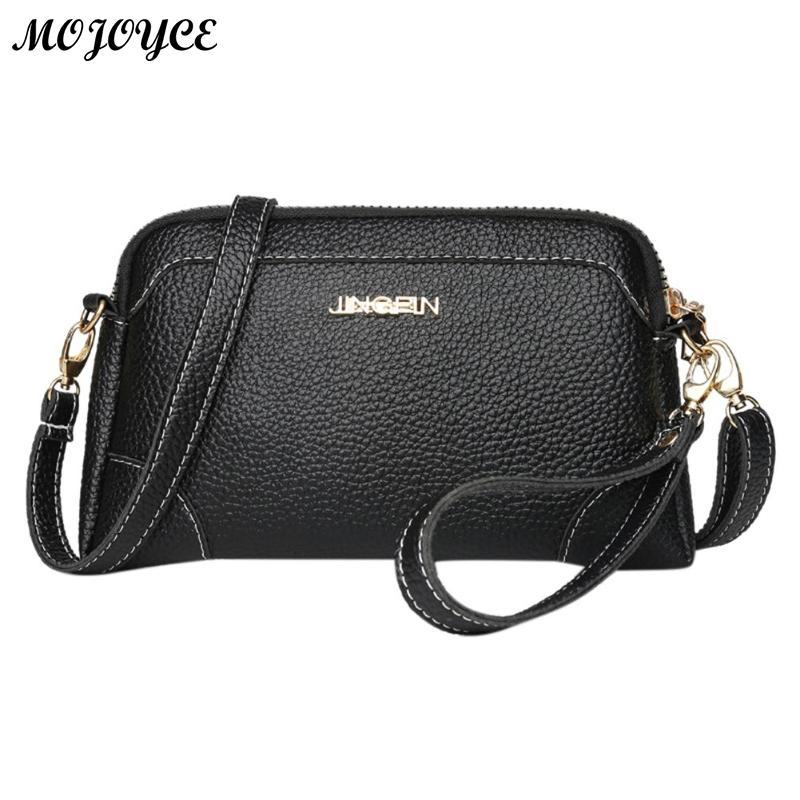 South Korea Pu Leather Handbags Lady Shoulder Bag Handbag Simple Black Bags Casual fashionable Female Crossbody Messenger Pack