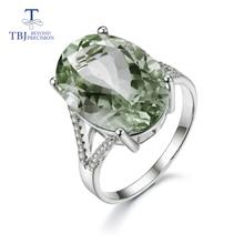 Grote Groene Amethist Ring Natuurlijke Edelsteen Ring 925 Sterling Zilveren Fijne Sieraden Voor Meisjes Mooie Zwarte Vrijdag & Kerstcadeau