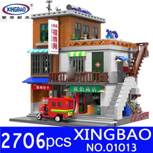 XingBao 01013 2706pcs Genuine Creative MOC City Series The Urban Village Set Building Blocks Bricks Educational Toys Model Gifts lepin 05045 star battle genuine series the b starfighter wing educational building blocks bricks toys legoing 10227 gifts model