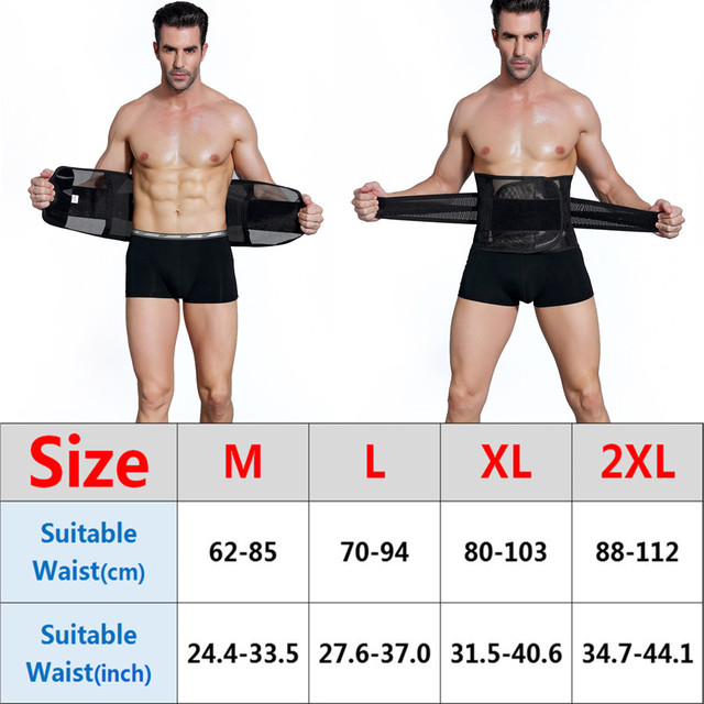 Slimming Belt Body Shapers Belt Cincher Sweat Men Shaperwear Belly Corset Abdomen Girdle Trimmer Support Tummy Waist Trainer 2