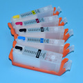 5Colors empty refill ink cartridge with chip for canon mg5750 mg5751 mg5751 mg5752 mg5753 mg6850 printer ink cartridge