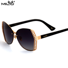 MILU Luxury Brand Logo Sunglasses Polarized For Women Aviator Fishing Driving Alloy Goggles Pixel UV400 ML71110