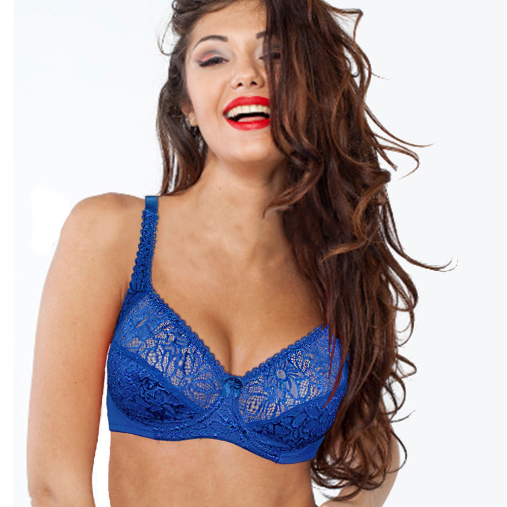 8fa55843d7b5a Plus size Bra women Lace Perspective Bralette Sexy Lingerie Underwire Embroidery  Floral Bras Top Luxury Gift BH B C D DD E F Cup-in Bras from Underwear ...