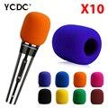 + Cheap Sale+Free Shipping + 10Pcs/lot Handheld Stage wireless microphone Windscreen Foam Cover Karaoke DJ Sales Wine Red EN9973