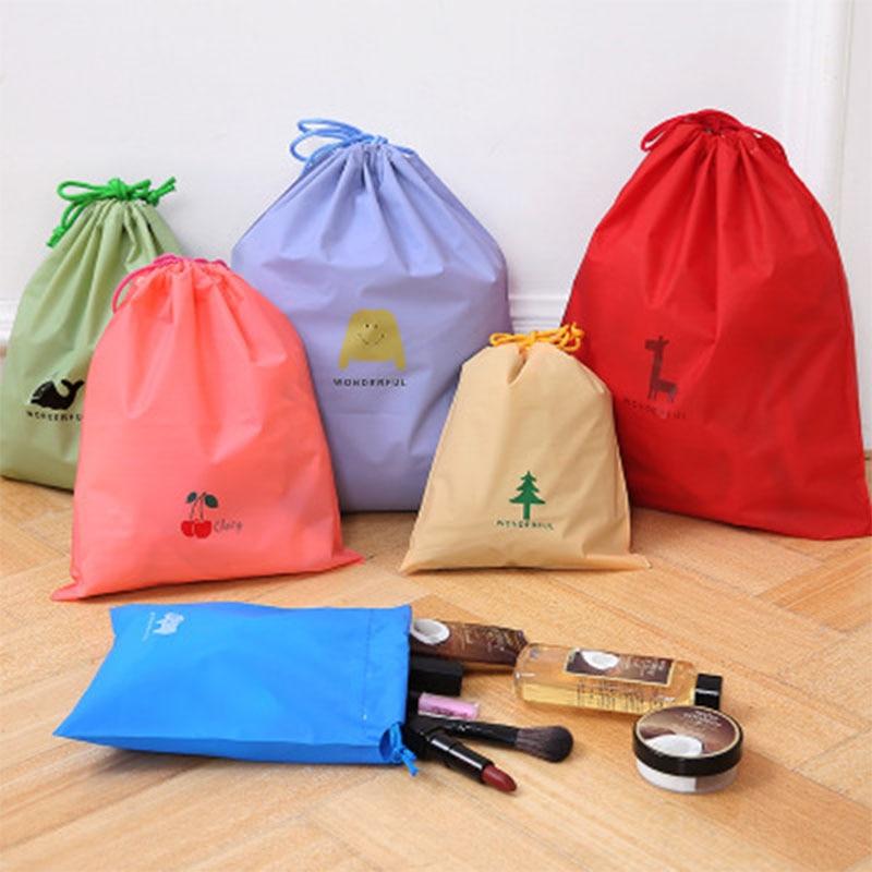 3 pcs set Nylon Waterproof Drawstring Bag Customized Portable Pouch Toiletries Storage Pockets Environment Friendly Bags