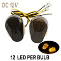 A Pair DC 12V Motorcycle Turn Signals Amber Light For Kawasaki ZZR600 ZX9R ZX7R ZX6R ZX636 ZX12R 2000-2005 1998-2003 2004 2008