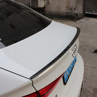 S3 Style Carbon Fiber Rear Trunk Wing Decoration Use For Audi 4Door A3 S3 Spoiler 2013 2017