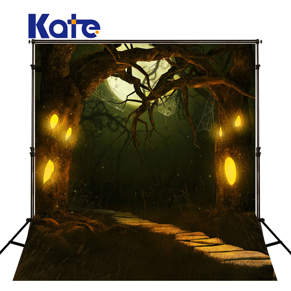 KATE Photography Background Enchanted Forest Ghost Tree Spider Web  Halloween Backdrop Kate Backdrop Photography Wsj-036 сумка kate spade new york wkru2816 kate spade hanna
