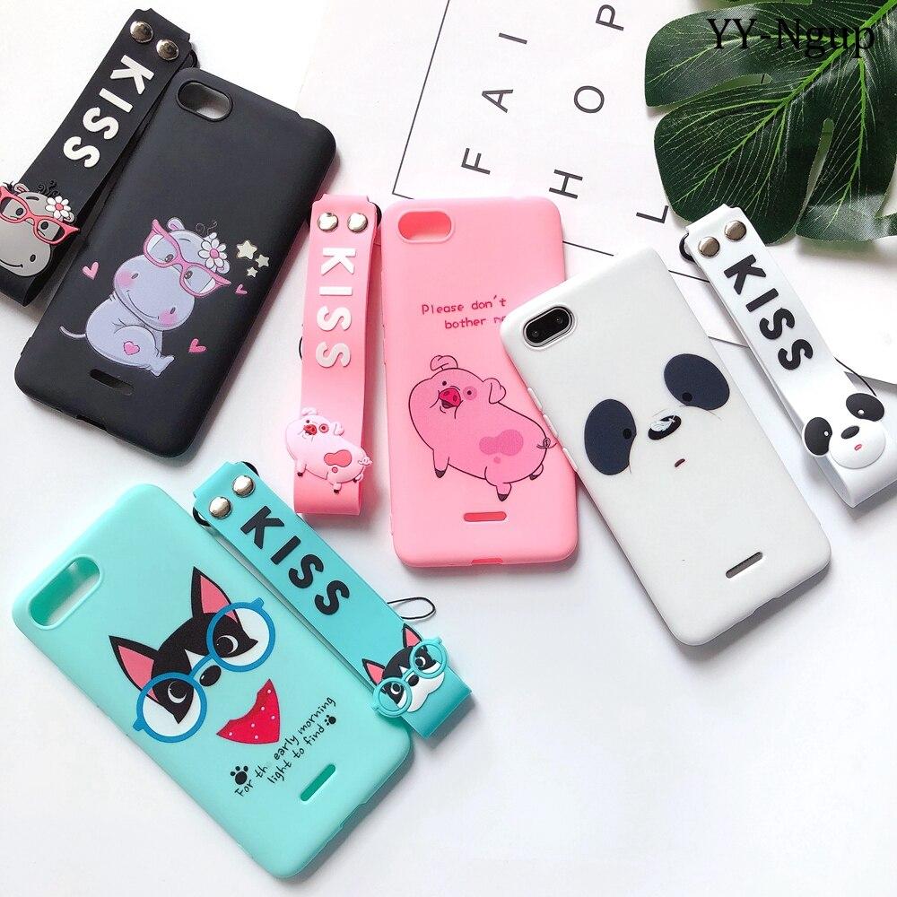 Redmi GO Cases on for Xiaomi Redm 6A Case Cover Kawaii Lanyard Silicone for etui Xiaomi Redm 6A 5A 4X Xiomi Mi A1 A2 Phone Case