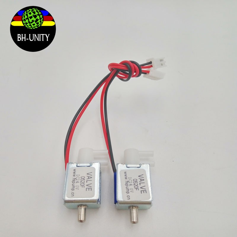 eco solvent printer spare parts solenoid valve for mutoh VJ1604/1624/1638 three ways solenoid valve 0520F DC 24v for sale