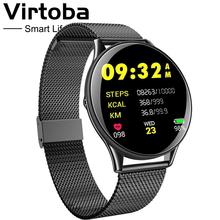 Virtoba CN58 Tempered Glass Touch Smart Watch Man Women Blood Pressure Oxygen IP68 Waterproof Activity Fitness Tracker PK Q8 T3