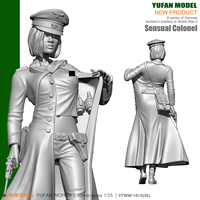 1/18 German Sexy Female Officer Resin Soldier 90mm YFWW 1813