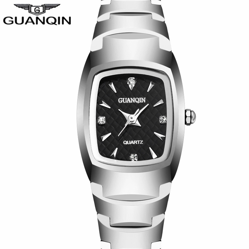 ФОТО GUANQIN Women's Fashion Oval Quartz Watch Ladies Series Jewelry Luxury Tungsten Steel Business Bracelet Watches felogio feminino