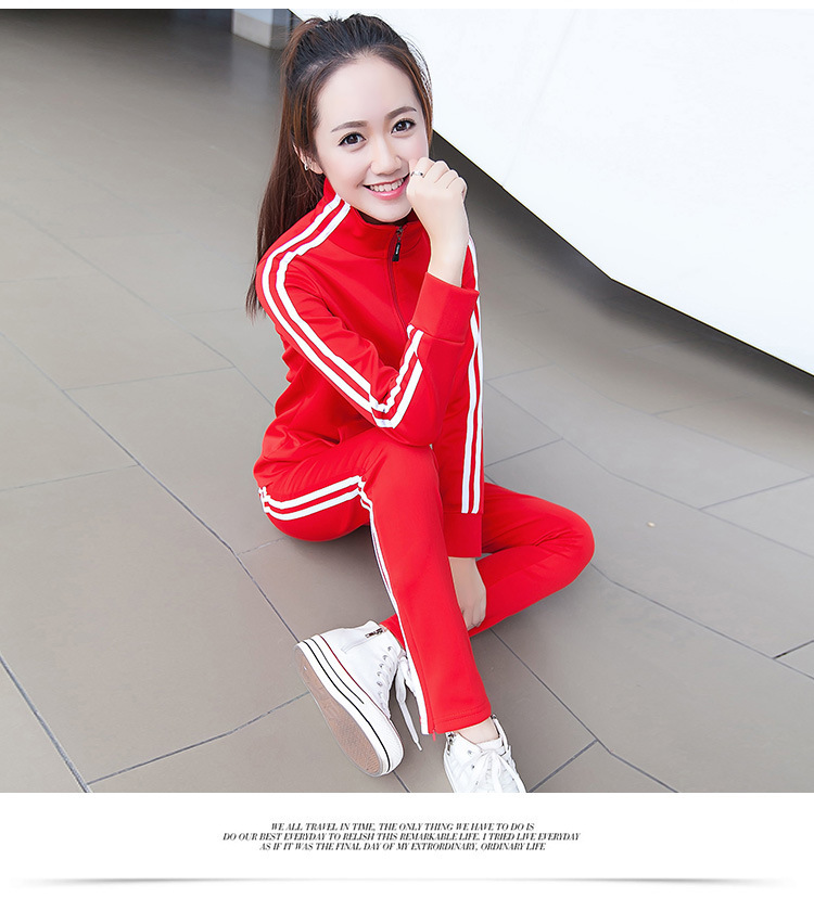 c7261b134139 2018 Autumn winter Casual Female Sporting Suits Ladies Slim 2 Pieces ...