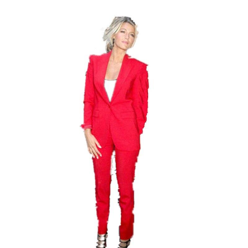 Nové omezené plné pravidelné dámské večerní kalhoty Nové slim fit dámské smokingy pro špičkové klopy obleky na zakázku