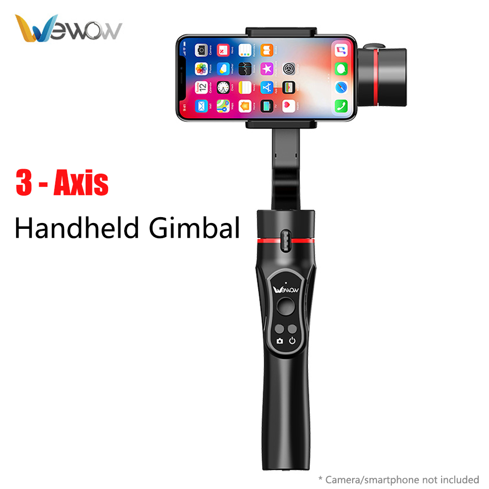 Stabalizer Wewow A5 3-Eixo Cardan Handheld Controle Remoto APLICATIVO Para Celular Smartphone IPhone X 8 Plus Xiaomi PK lisa Q/Smooth 4
