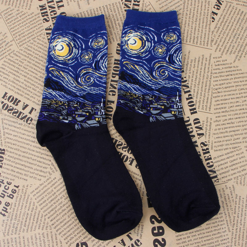Womens lot Mural Art Comfortable Casual Socks Men Graffiti Unisex Paintings Sock funny socks calcetines