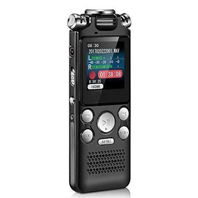 เครื่องบันทึกเสียง MINI Lossless สีเปิดใช้งานลดเสียงรบกวน 2 Way ไมโครโฟน Multifunctional MP3 USB ชาร์จ