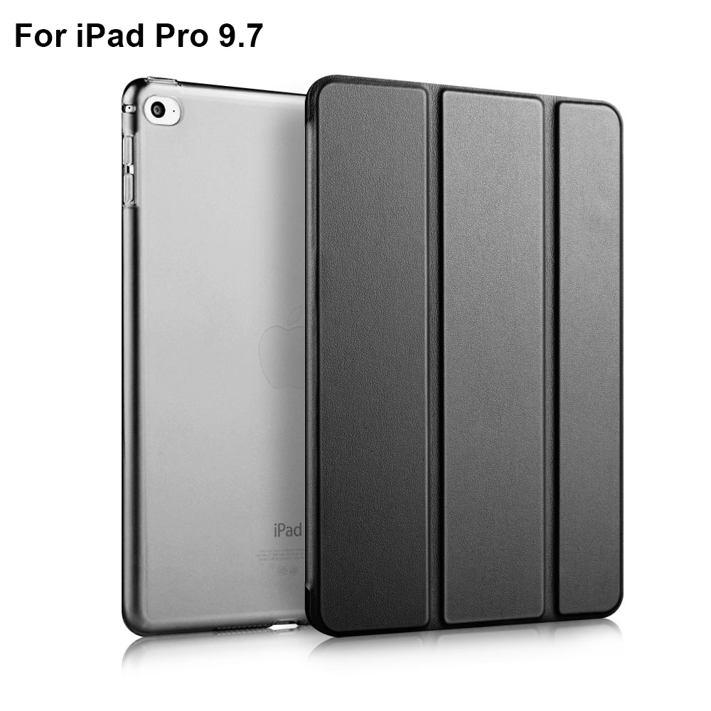 For iPad Pro 9 7 Case Soft TPU Bumper Edge Slim Fit Leather Smart Case Cover