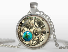 2017 new hot High Quality Steampunk pendant necklace Retro Vintage round Steampunk Gears Pendants Jewelry Punk gift wholesale